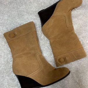 👢Yellow Box Wedge heel Boots 👢